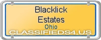 Blacklick Estates board
